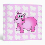 Cute Pink Baby Hippo Binder