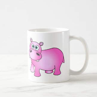 Cute Pink Baby Hippo Coffee Mug