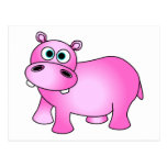 Cute Pink Baby Hippo Postcards