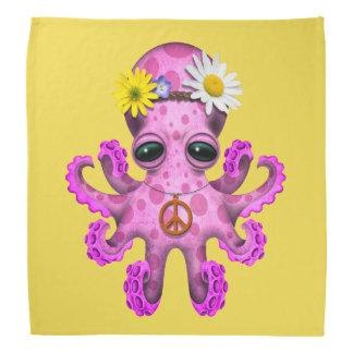 Cute Pink Baby Octopus Hippie Bandana