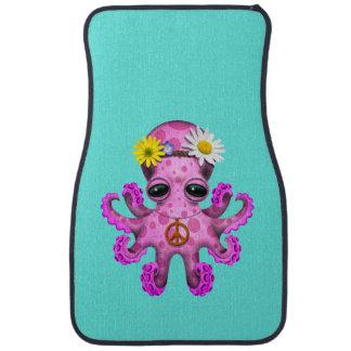 Cute Pink Baby Octopus Hippie Car Mat