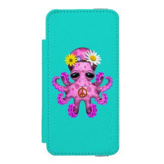 Cute Pink Baby Octopus Hippie Incipio Watson™ iPhone 5 Wallet Case