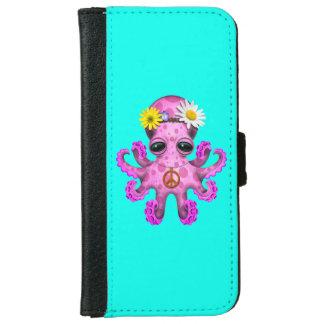 Cute Pink Baby Octopus Hippie iPhone 6 Wallet Case