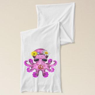 Cute Pink Baby Octopus Hippie Scarf