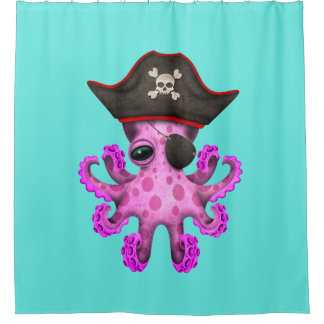 Cute Pink Baby Octopus Pirate
