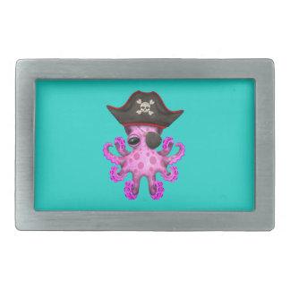 Cute Pink Baby Octopus Pirate Belt Buckles
