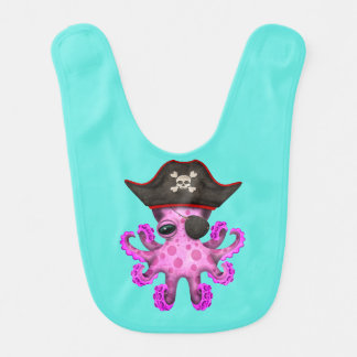 Cute Pink Baby Octopus Pirate Bib
