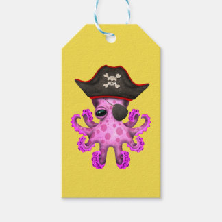 Cute Pink Baby Octopus Pirate Gift Tags