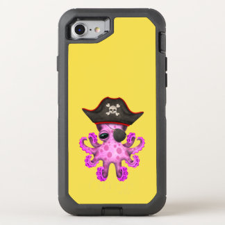 Cute Pink Baby Octopus Pirate OtterBox Defender iPhone 8/7 Case