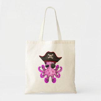 Cute Pink Baby Octopus Pirate Tote Bag