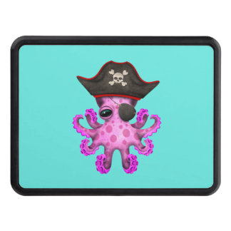 Cute Pink Baby Octopus Pirate Trailer Hitch Cover