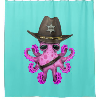 Cute Pink Baby Octopus Sheriff