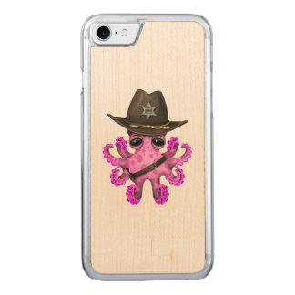 Cute Pink Baby Octopus Sheriff Carved iPhone 8/7 Case