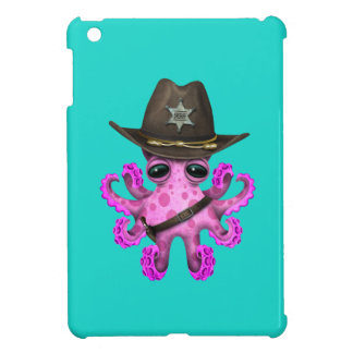 Cute Pink Baby Octopus Sheriff Case For The iPad Mini