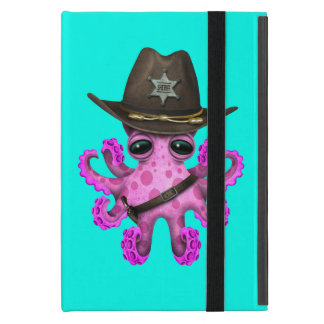 Cute Pink Baby Octopus Sheriff Covers For iPad Mini