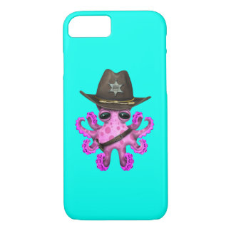Cute Pink Baby Octopus Sheriff iPhone 8/7 Case