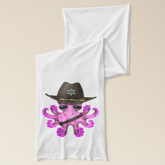 Cute Pink Baby Octopus Sheriff Scarf