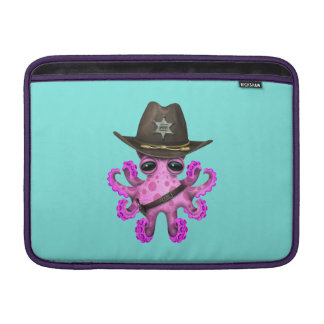 Cute Pink Baby Octopus Sheriff Sleeve For MacBook Air