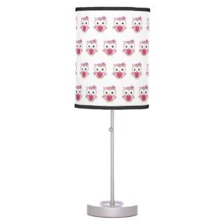 Cute Pink Baby Owl Lamp
