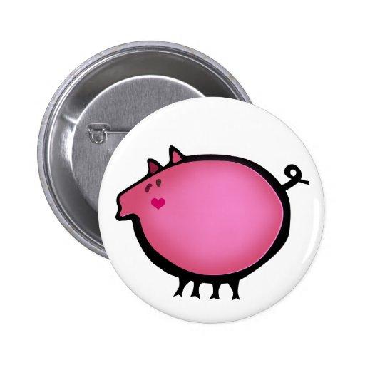 Cute pink baby piggy pin