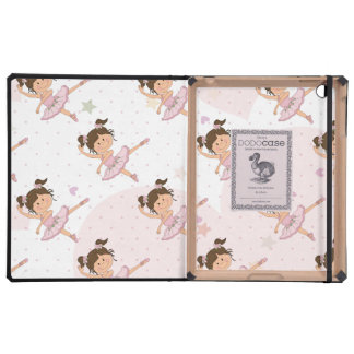 Cute Pink Ballerina 1 Pattern Hearts and Stars iPad Cases
