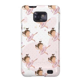 Cute Pink Ballerina 1 Pattern Hearts and Stars Samsung Galaxy SII Case