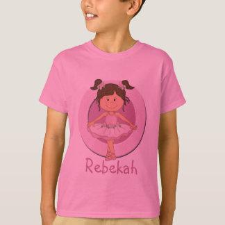 Cute Pink Ballerina 3 Personalized Star Shirt