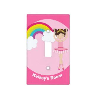 Cute Pink Ballerina Light Switch Cover