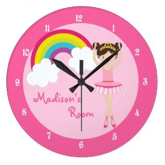 Cute Pink Ballerina Wall Clocks