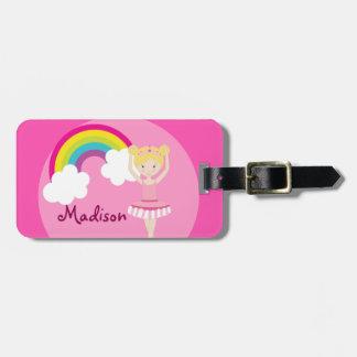 Cute Pink Ballet Girl Custom Luggage Tag