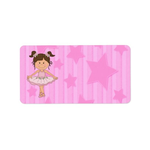 Cute Pink Ballet Girl On Stars and stripe