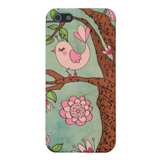 Cute Pink Bird in Red Boots iPhone 5/5S Cover