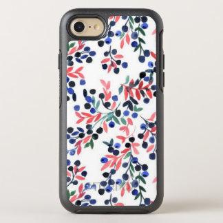 Cute Pink/Blue Flora Pattern iPhone OtterBox Case