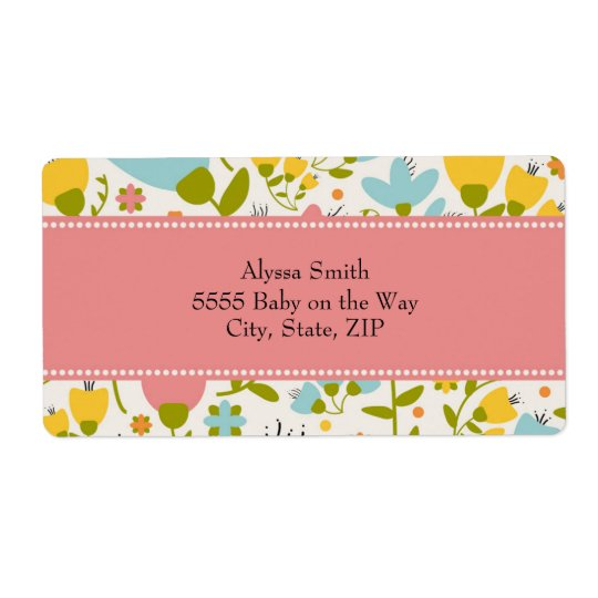 Cute Pink Blue Yellow Pastel Floral Baby Shower