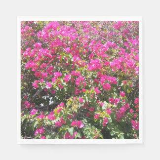 Cute Pink Bougainvillea Bush Print Paper Napkins
