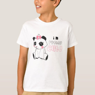 Cute pink Bow Panda Bear T-Shirt