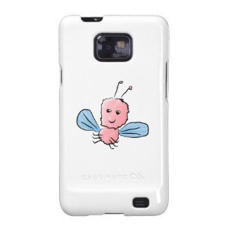 Cute Pink Bug Flying Insect Galaxy SII Case