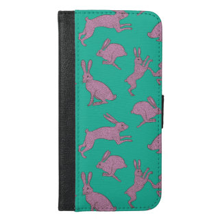 Cute Pink Bunnies on Green Phone Case
