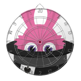 Cute pink bunny for Happy Easter Dartboard