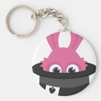 Cute pink bunny for Happy Easter Keychain