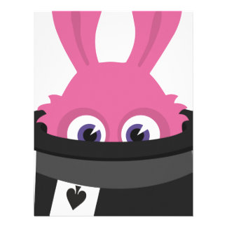 Cute pink bunny for Happy Easter Letterhead Template