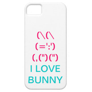 Cute pink bunny symbol iPhone 5 cases