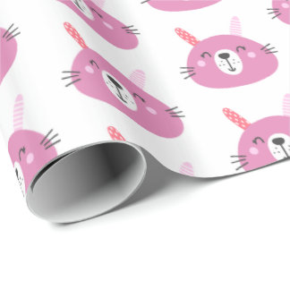 Cute Pink Bunny Wrapping Paper