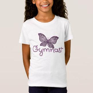 Cute Pink Butterfly Gymnast T-Shirt