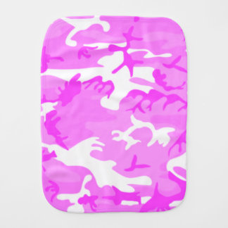 Cute Pink Camouflage Pattern Burp Cloth