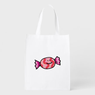 cute pink candy cartoon grocery bag