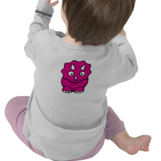 Cute Pink Cartoon Dinosaur Tshirt