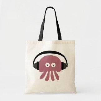 Cute Pink Cartoon Jellyfish DJ With Headphones