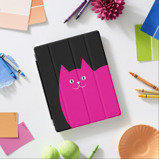 Cute Pink Cat iPad Cover