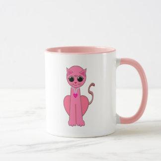 Cute pink cat mug